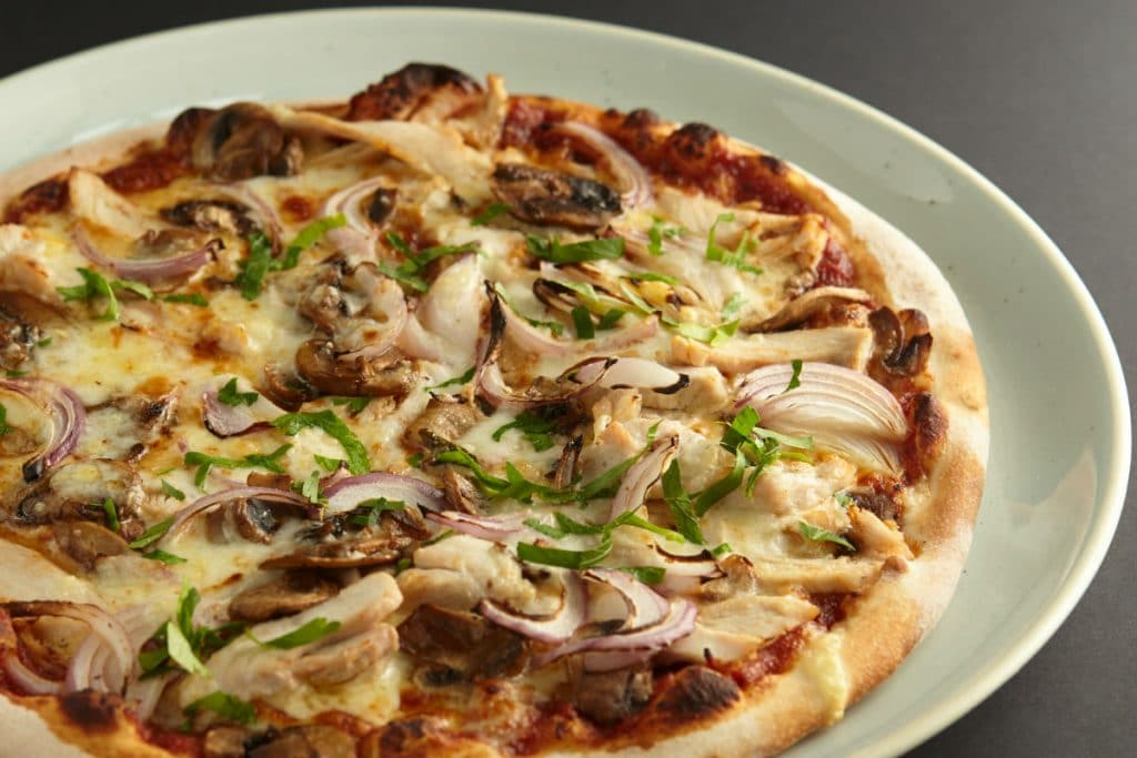 BBQ Chook pizza at 11 Inch Pizza