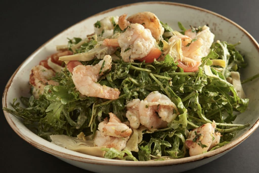 Prawn Salad at 11 Inch Pizza