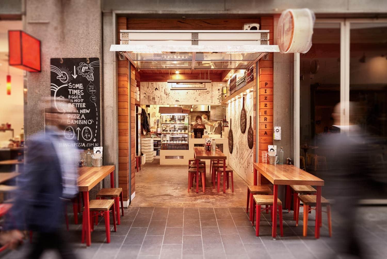 Exterior of 11 Inch Pizza Restaurant - Melbourne