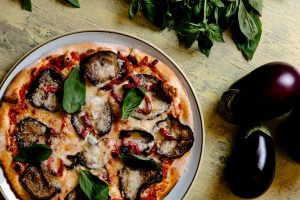 Vegetarian Pizza with Eggplant