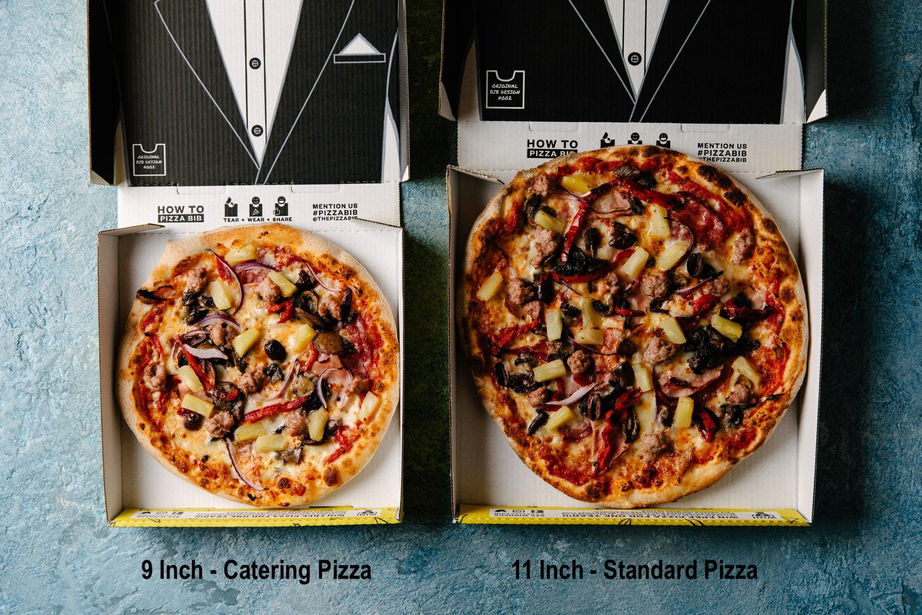 9 inch pizza 11 inch pizza