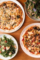 11 Inch Pizza - Two Pizzas and Two salads