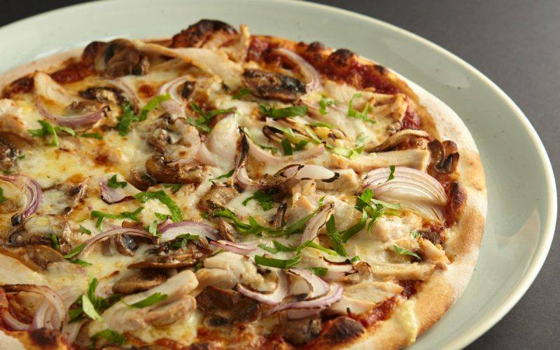BBQ Chook pizza at 11 Inch Pizza