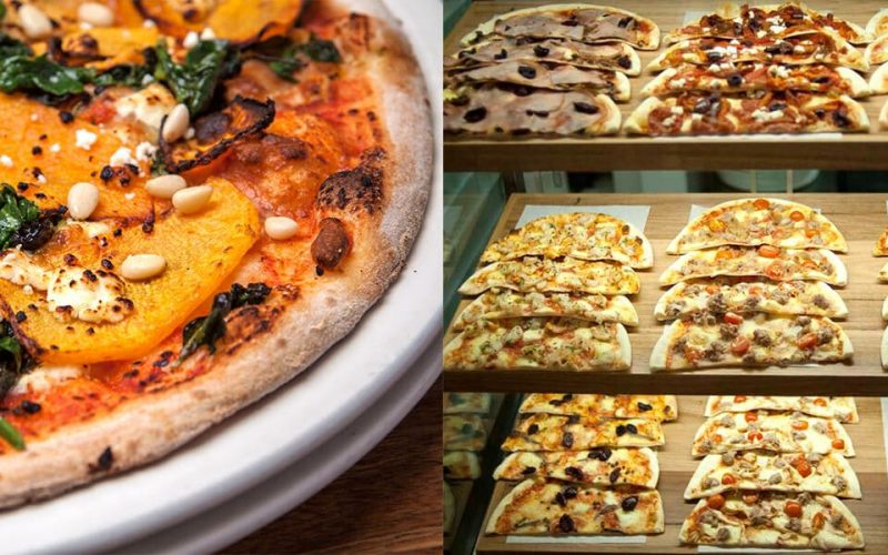 A selection of our pizzas at 11 Inch Pizza